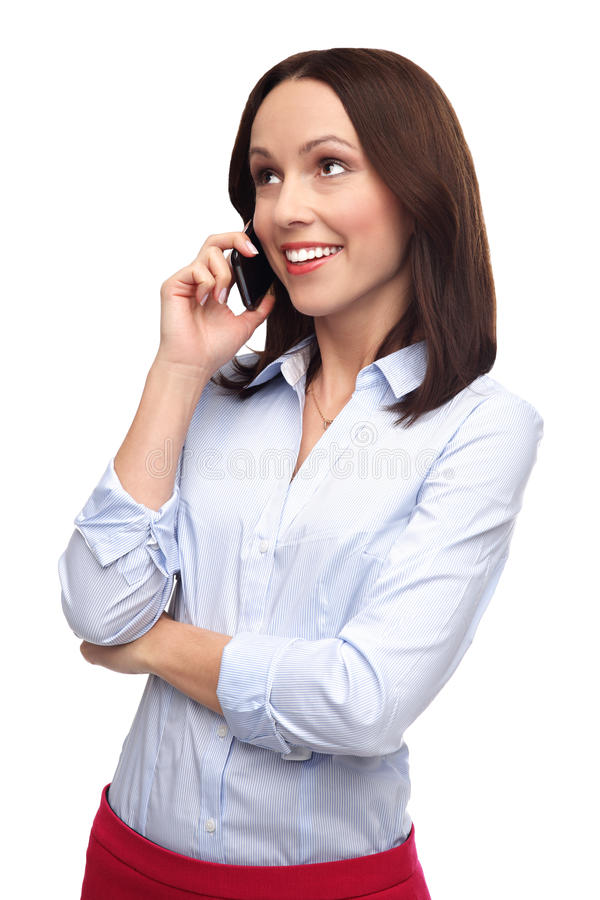 Download Woman with mobile phone stock image. Image of studio - 28344381