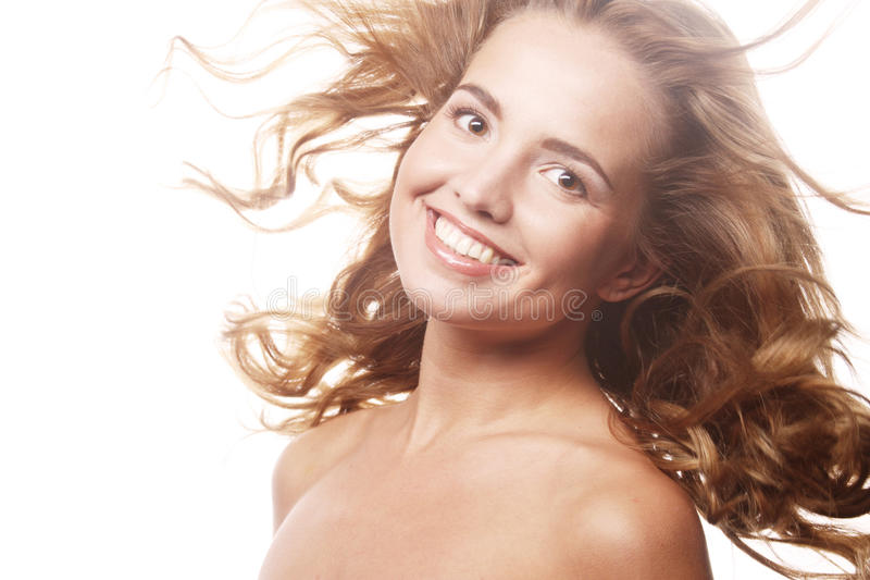 Woman Model With Windswept Flying Hair Stock Image Image Of Flying Bright 31887883