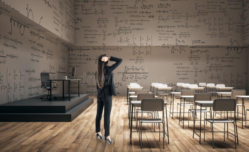 Woman in modern classroom stock photos