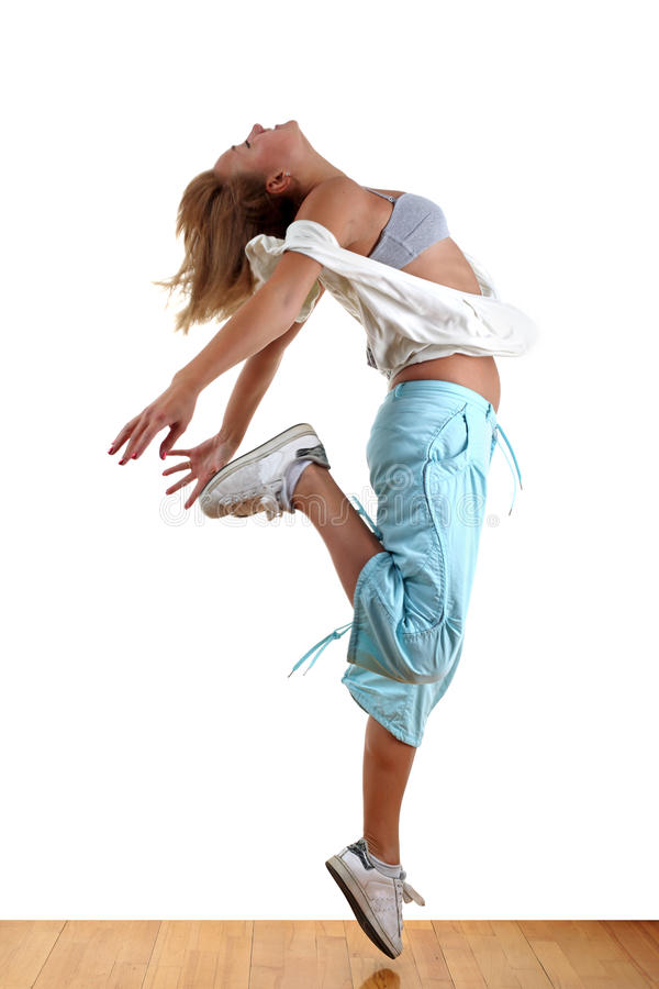 Woman modern dancer royalty free stock image