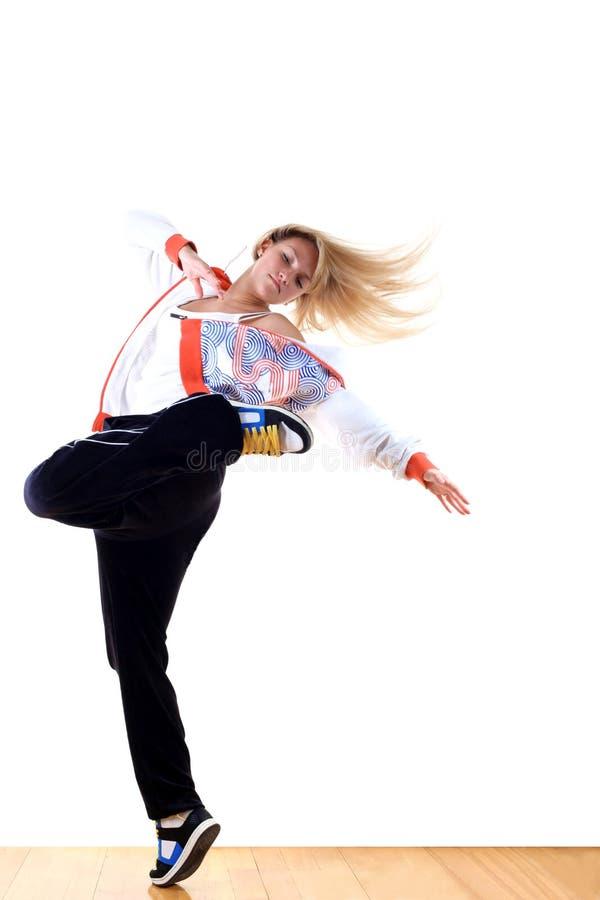 Woman modern sport dancer stock image