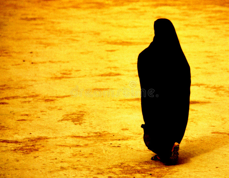 Woman Morocco. Woman in black Morocco Africa