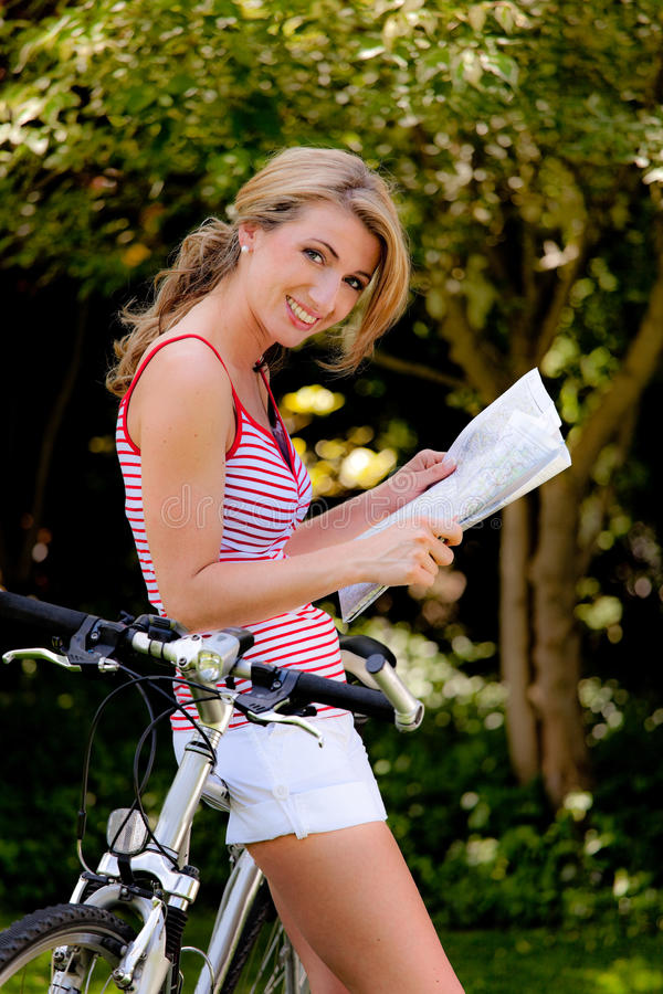 Download Woman With Mountain Bike Bicycle Stock Photos - Image: 10050233