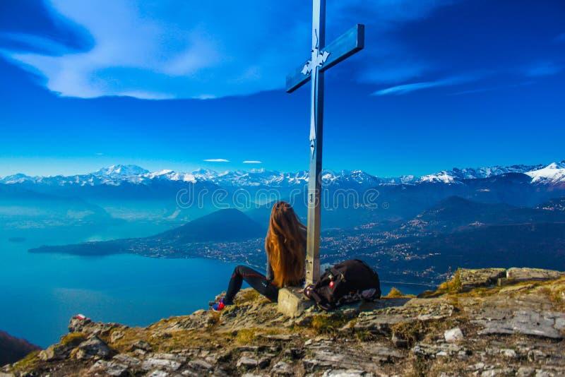 Woman On Mountain Summit Free Public Domain Cc0 Image