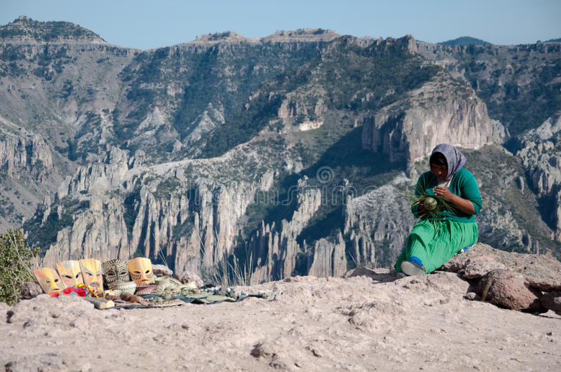 Woman and the mountains. Mexico royalty free stock photos