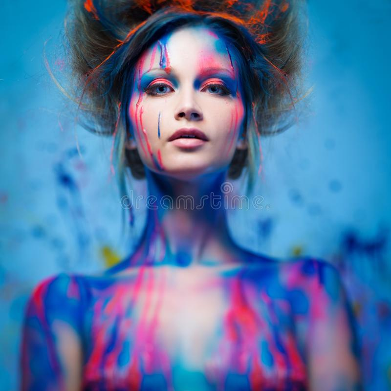 Download Woman muse with body art stock image. Image of design - 38477277