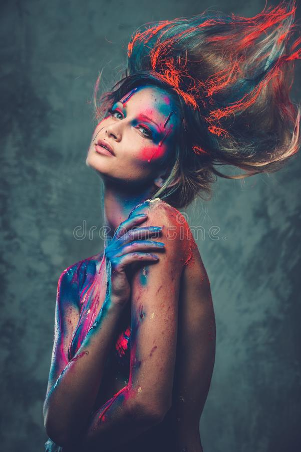 Download Woman muse with body art stock photo. Image of fantasy - 39354226