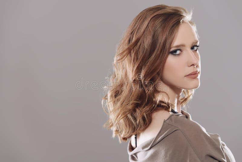 Woman with natural makeup stock photography