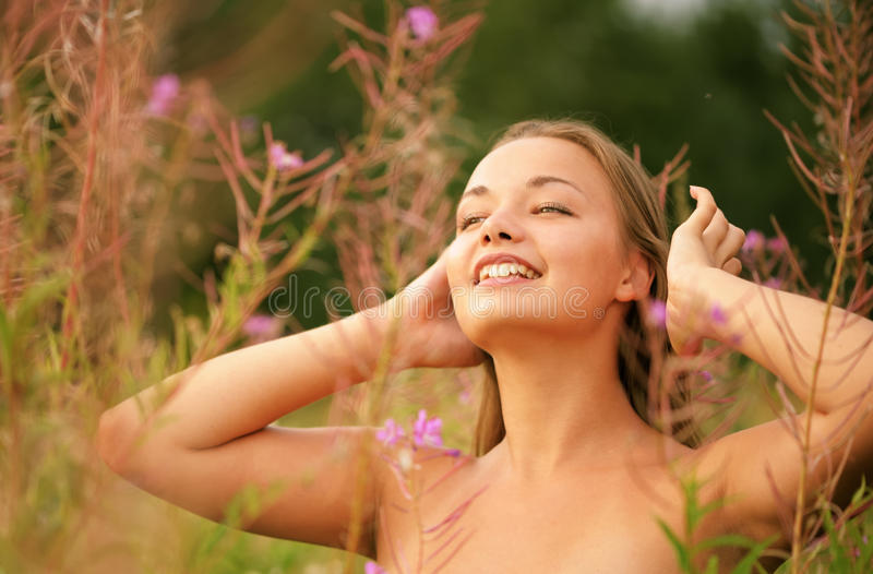 Download Woman in nature stock image. Image of attractive, looking - 17489923