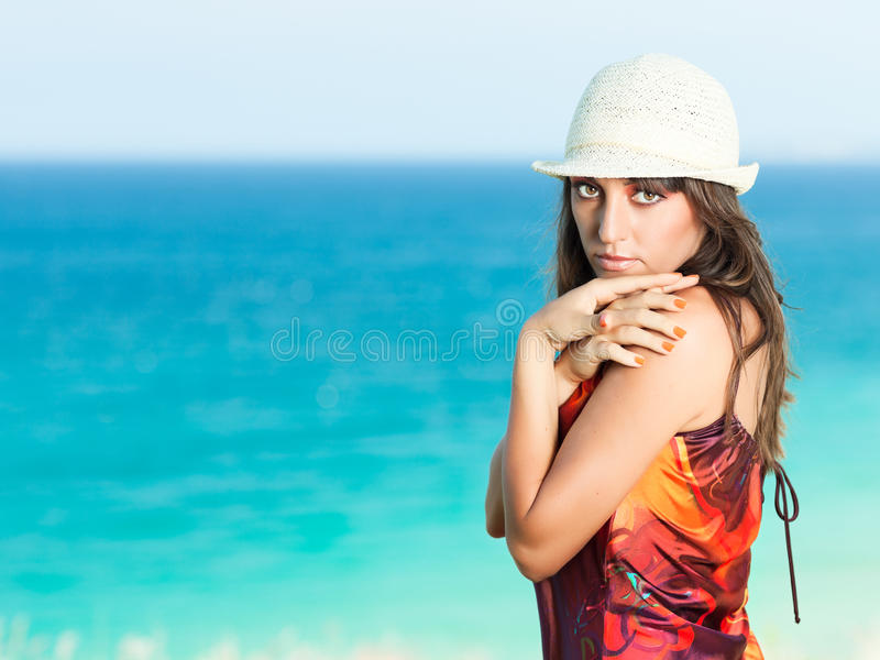 Download Woman near the sea stock photo. Image of outdoor, girl - 24549852