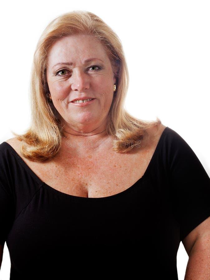 Download Woman nearing 60 stock photo. Image of smiling, shirt - 24616668
