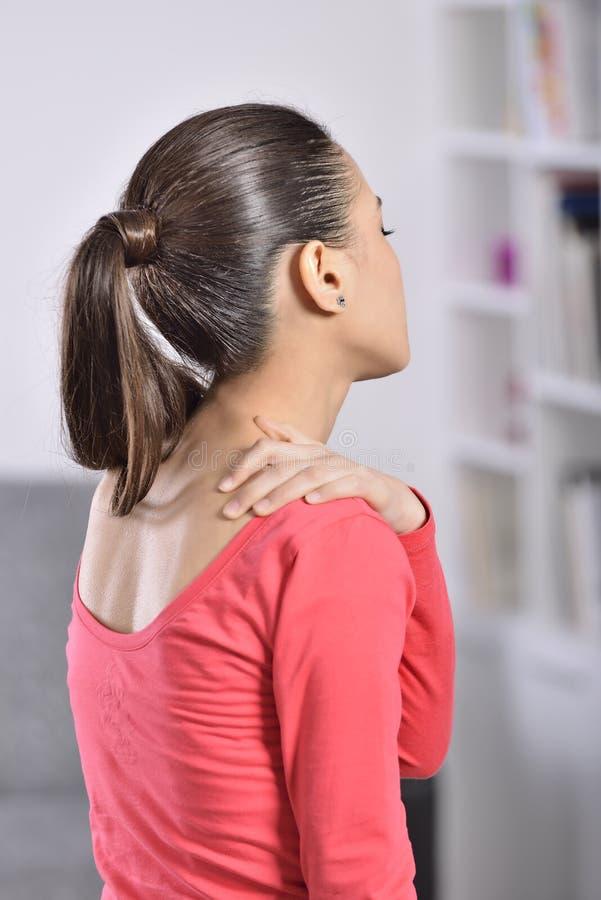 Download Woman neck Pain stock image. Image of caucasian, distress - 36995171