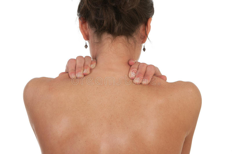 Neck and shoulder muscle pain royalty free stock photography