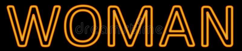 Woman neon sign vector illustration