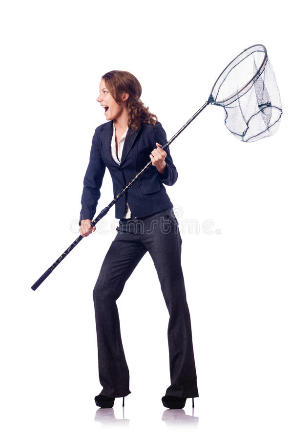 Download Woman with net stock photo. Image of businessman, black - 27714876
