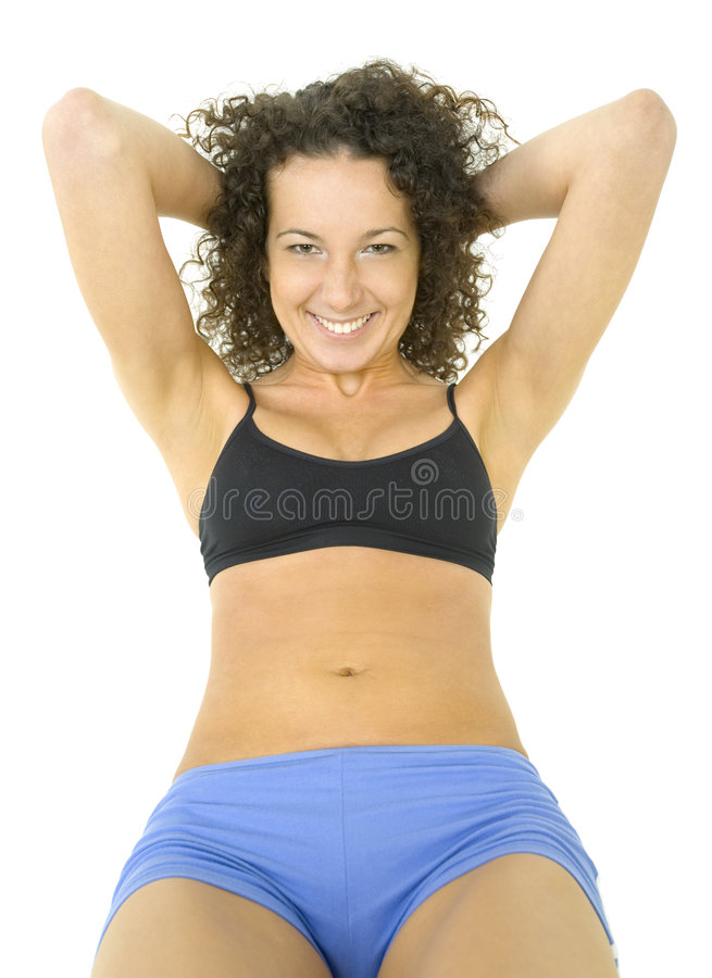 Download Woman with nice abdomen stock image. Image of resting - 3259903