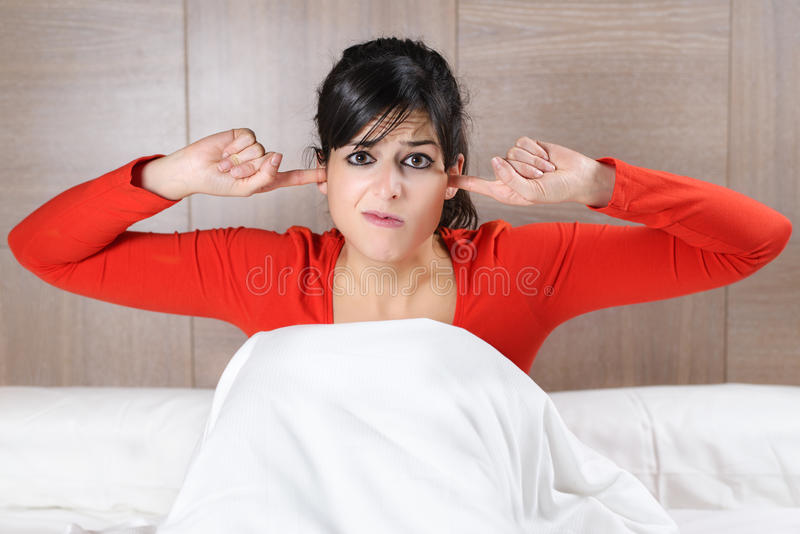 Download Woman And Night Noises Royalty Free Stock Photos - Image: 28037738