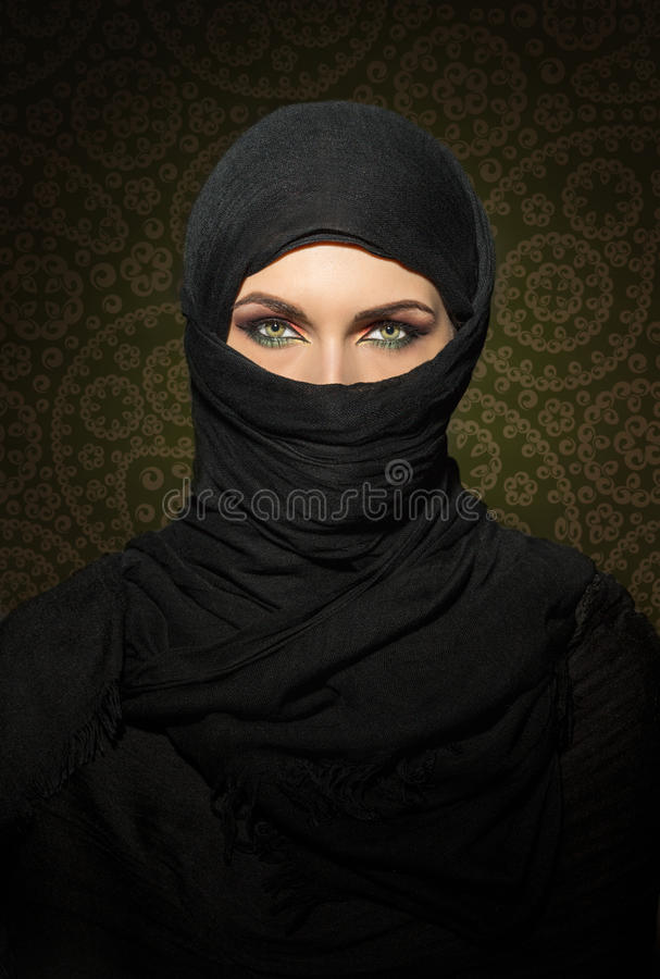 Woman in niqab royalty free stock image