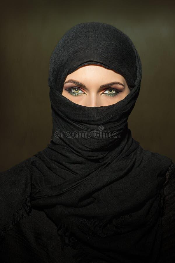 Woman in niqab stock image