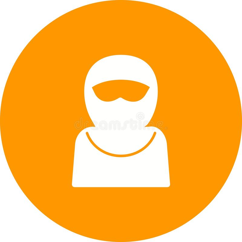 Woman with Niqab. Burka, arab, women icon vector image. Can also be used for islamic. Suitable for mobile apps, web apps and print media vector illustration