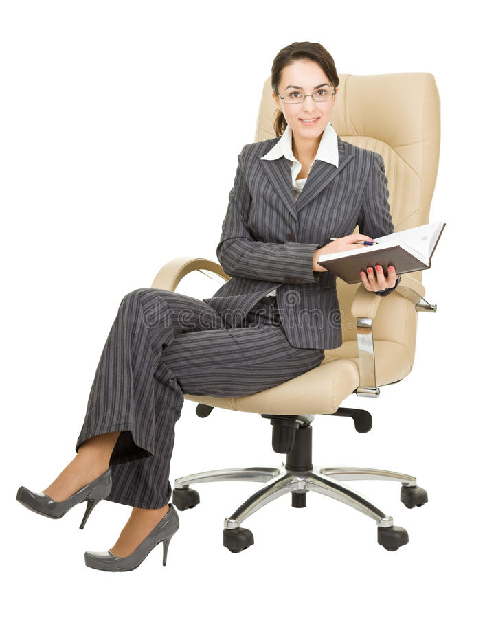 Woman with a notebook royalty free stock photo