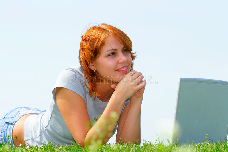 Woman with notebook royalty free stock photos