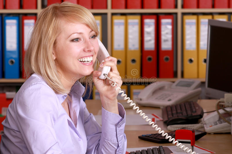 Woman in office royalty free stock photos