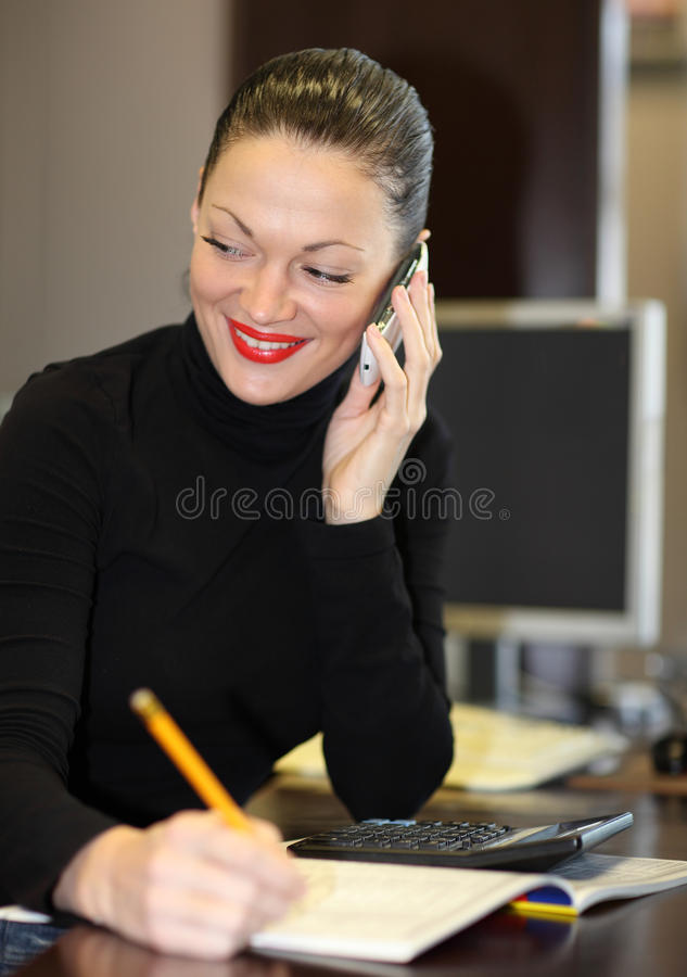 Download Woman in office stock photo. Image of caucasian, person - 24241694