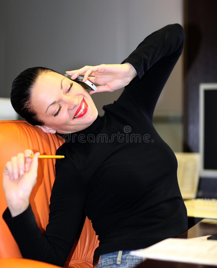 Woman In Office Stock Photos