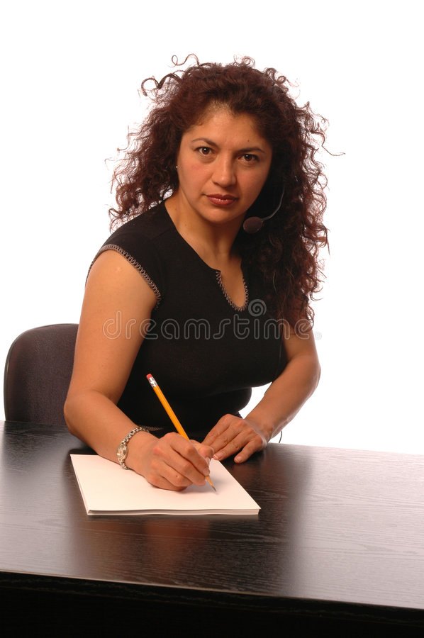 Woman in office stock photography
