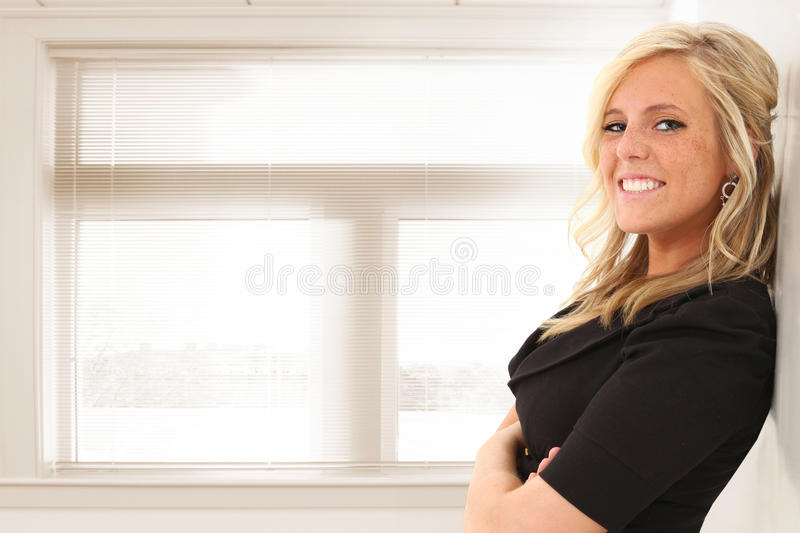 Woman in Office or School stock photography
