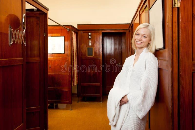 Woman in Old European Spa