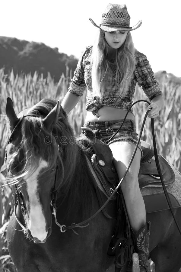 Free Woman On A Horse Stock Photos - 32845533