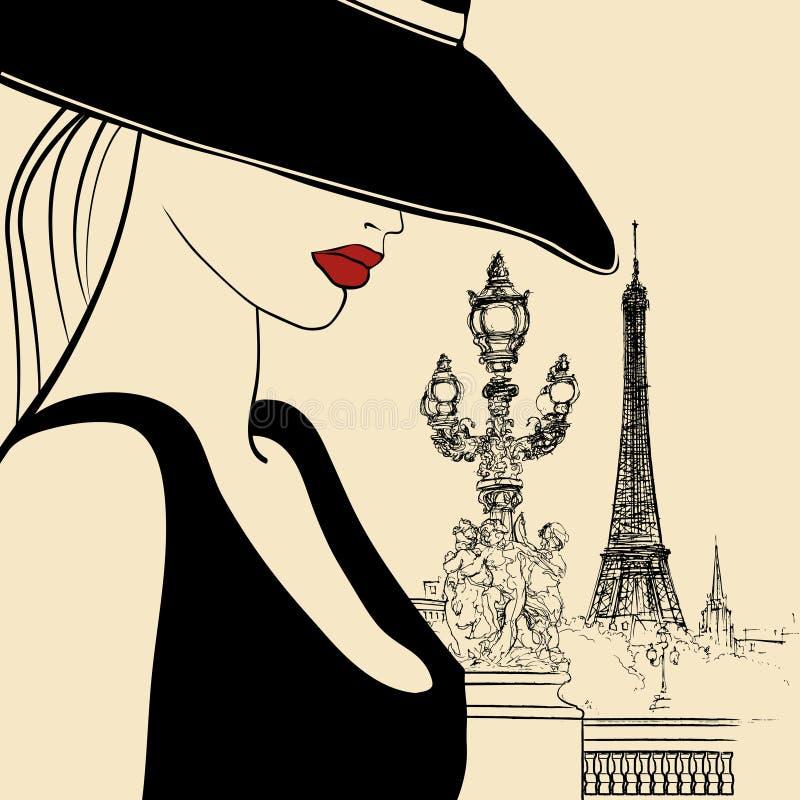 Free Woman On Alexander III Bridge In Paris Stock Photography - 15276932