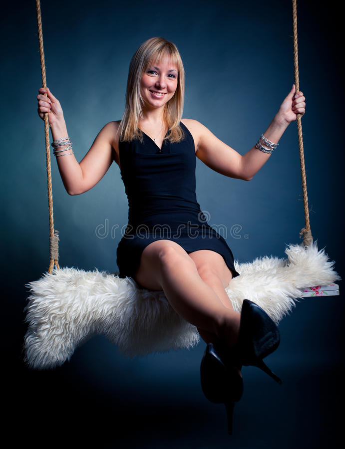 Free Woman On Swing Stock Images - 12483984
