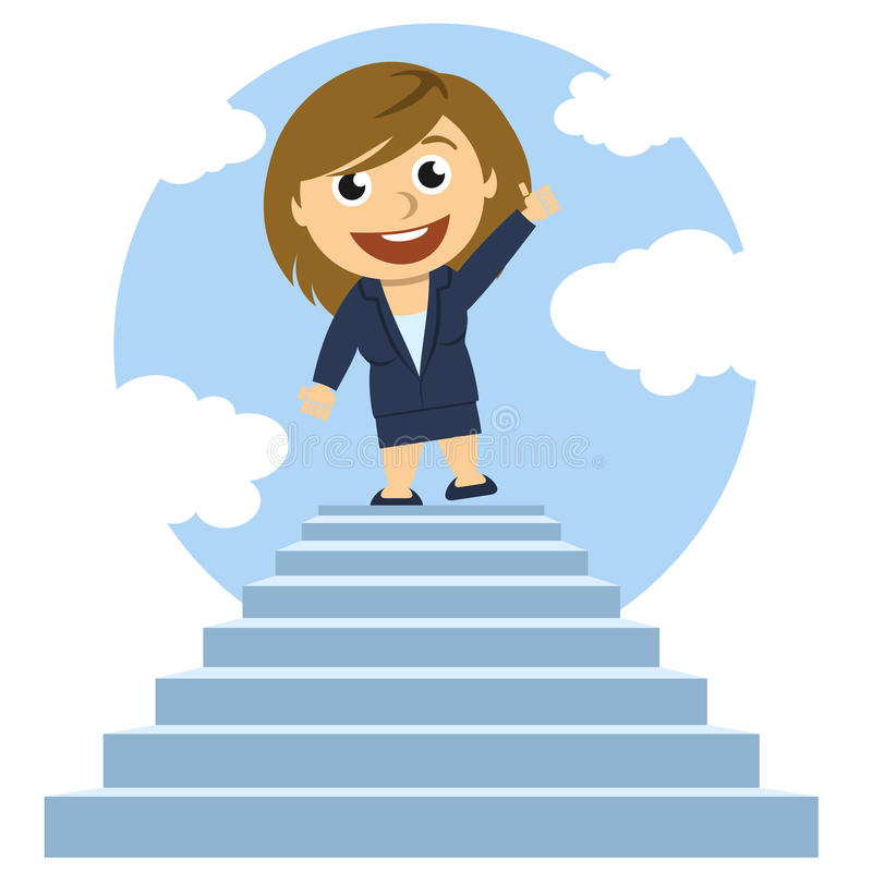 Free Woman On Top Of A Ladder Royalty Free Stock Photos - 31492108