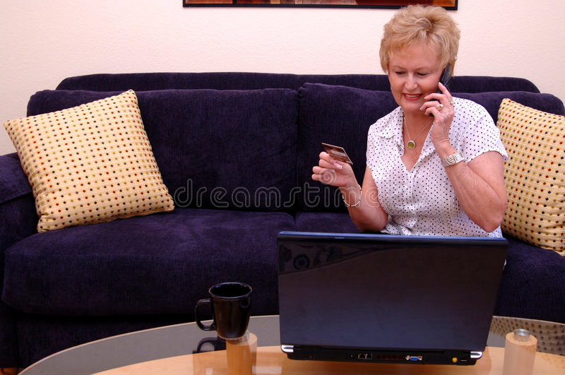 Download Woman online shopping stock image. Image of credit, notebook - 2807057