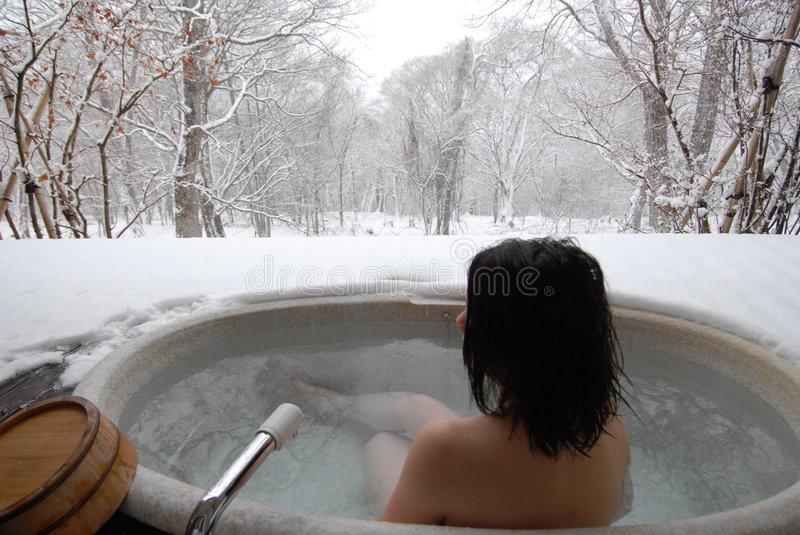 Download Woman in open air bath stock image. Image of relax, intimacy - 1746635