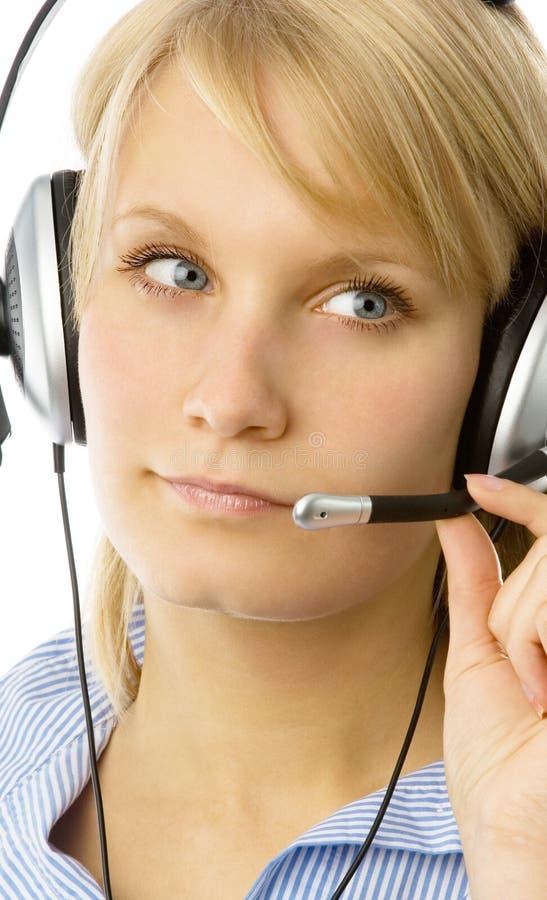 Woman operator stock photos