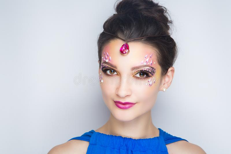 Woman oriental beauty stock image