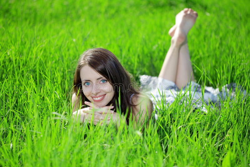 Download Woman in an outdoor stock image. Image of field, emotion - 22414137