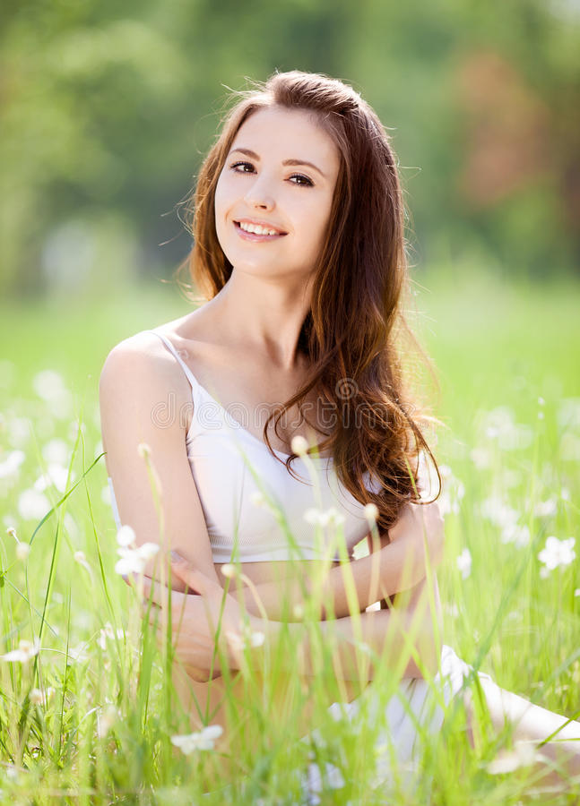 Download Woman outdoor stock image. Image of field, park, pleasure - 25369157