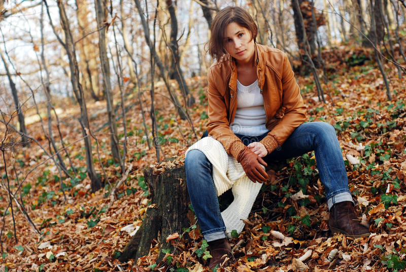 Woman outdoor stock images