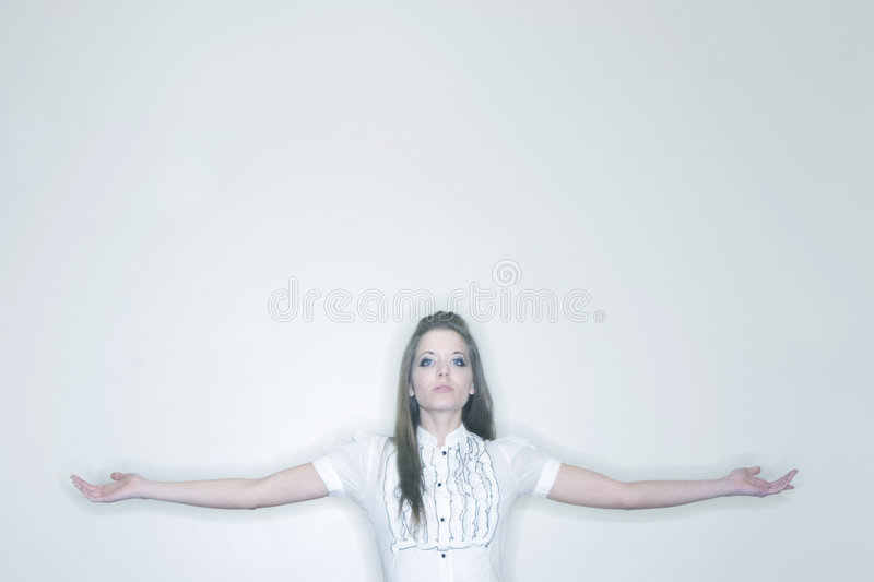 Woman With Outstretched Arms Stock Photography