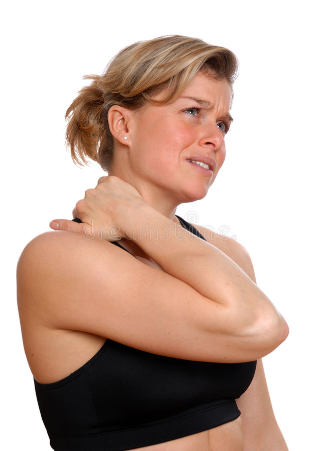 Woman in pain stock photos