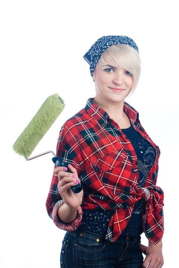 Woman painter stock photos