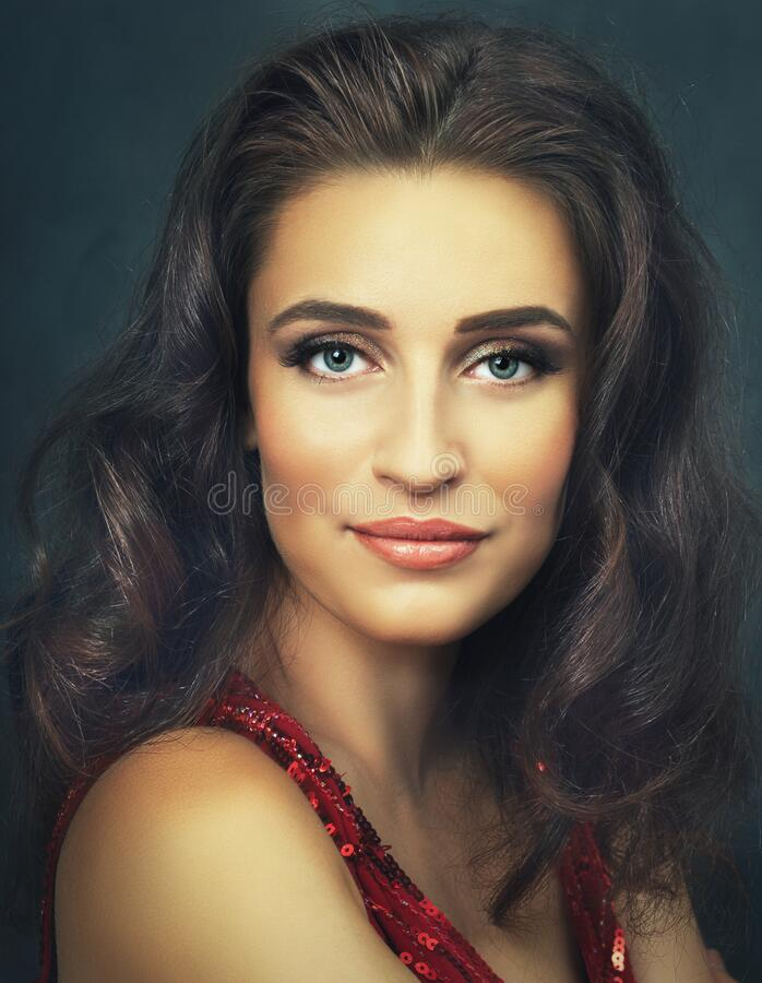 Woman painterly portrait royalty free stock image