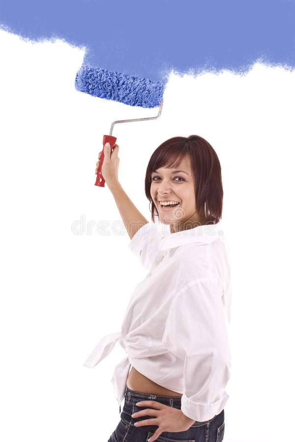 Download Woman Painting Stock Photography - Image: 16555252
