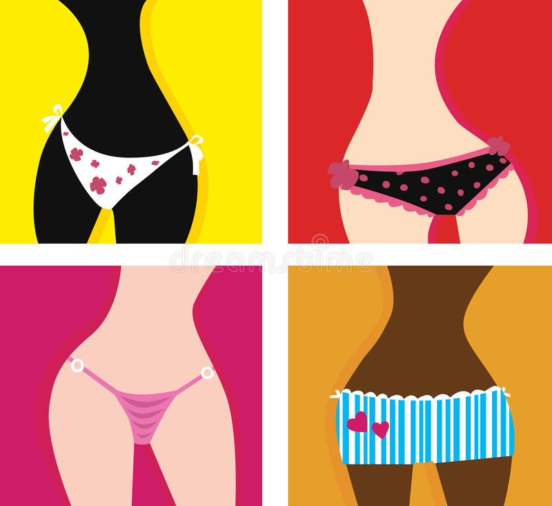 Download Woman in panties stock vector. Illustration of fashion - 11039733