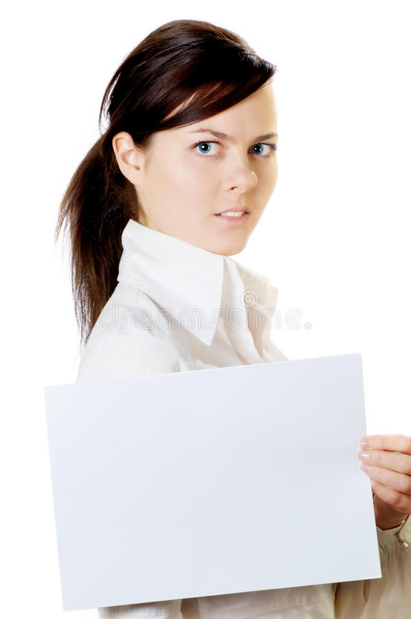 Download Woman with paper stock photo. Image of looking, business - 23814880